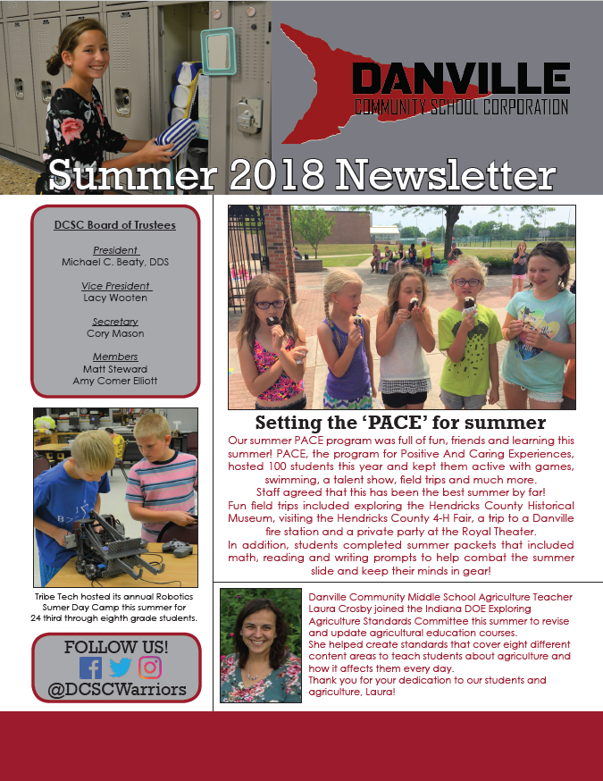 2018-19 newsletter collection